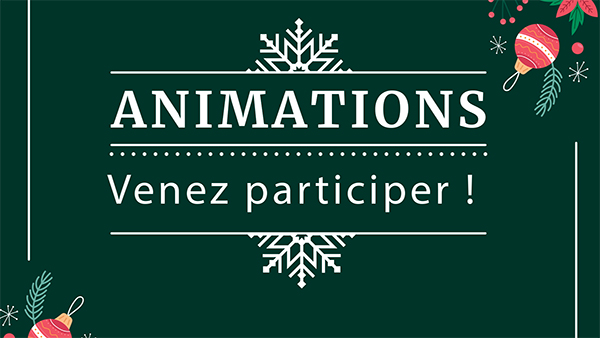 Animations de décembre 2019